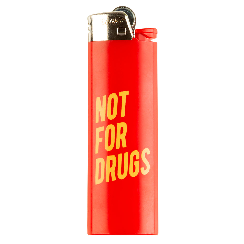 RSVP Gallery Not For Drugs Lighter, Red/Yellow