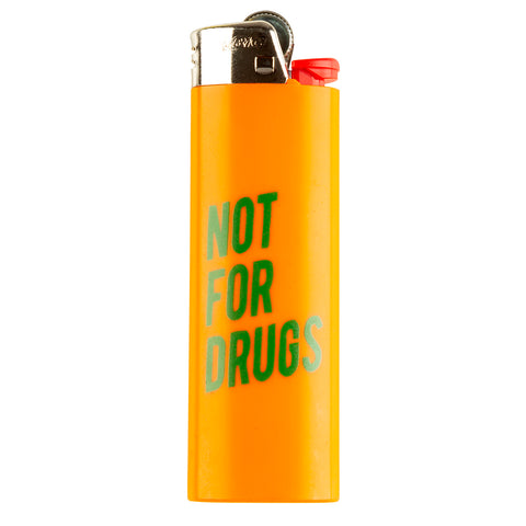 RSVP Gallery Not For Drugs Lighter, Orange/Green