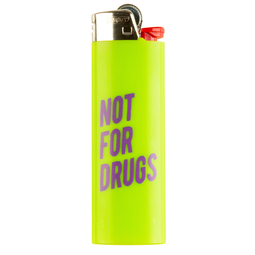 RSVP Gallery Not For Drugs Lighter, Green/Purple