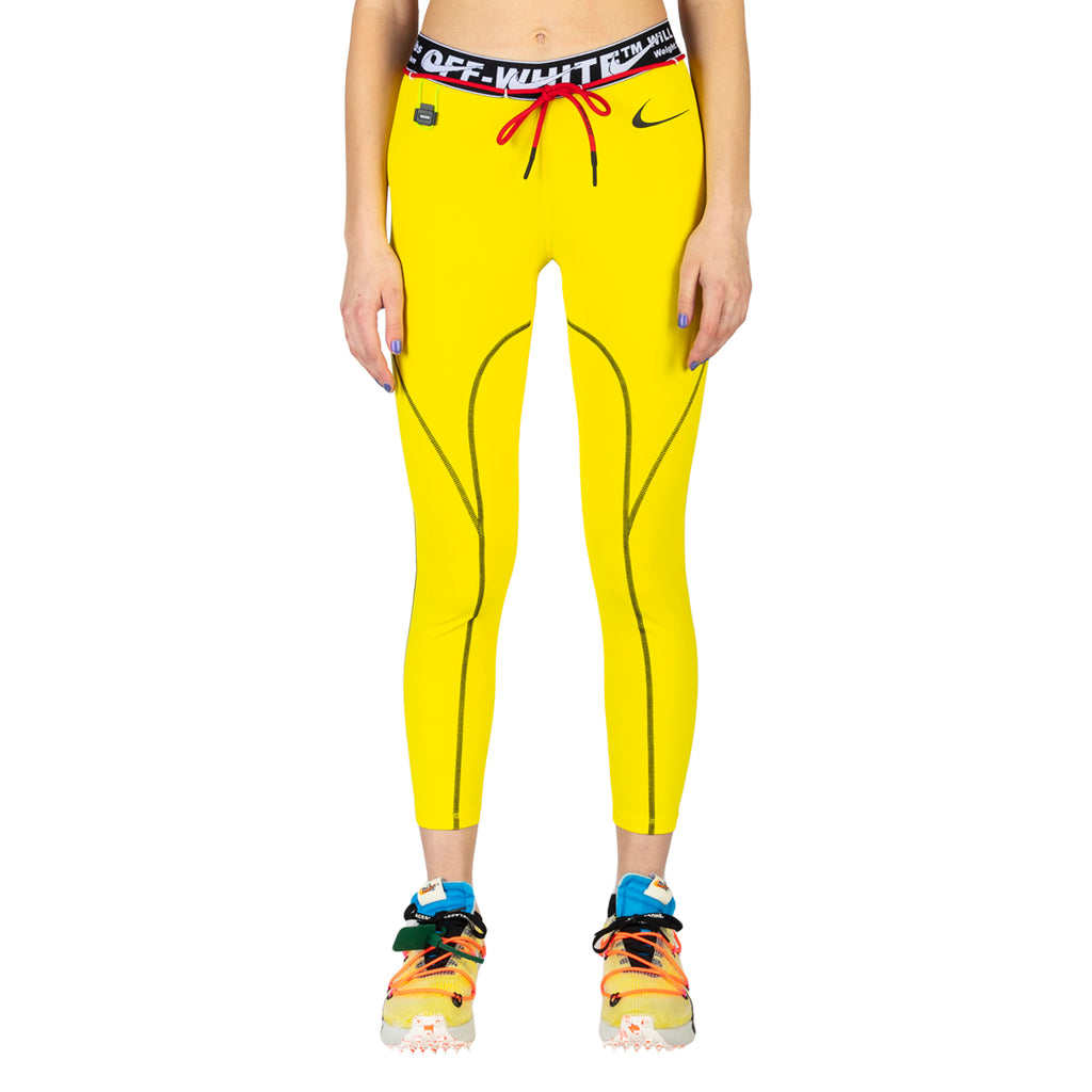 Nike x Off-White Women's NRG RU PRO 7/8 Tights, Opti Yellow