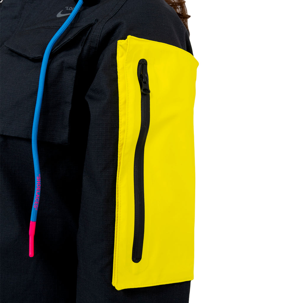 Nike x Off-White Women's Running Jacket, Black/Yellow