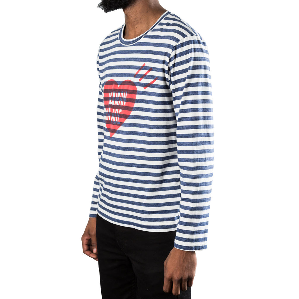 Human Made L/S Striped Tee (Navy)