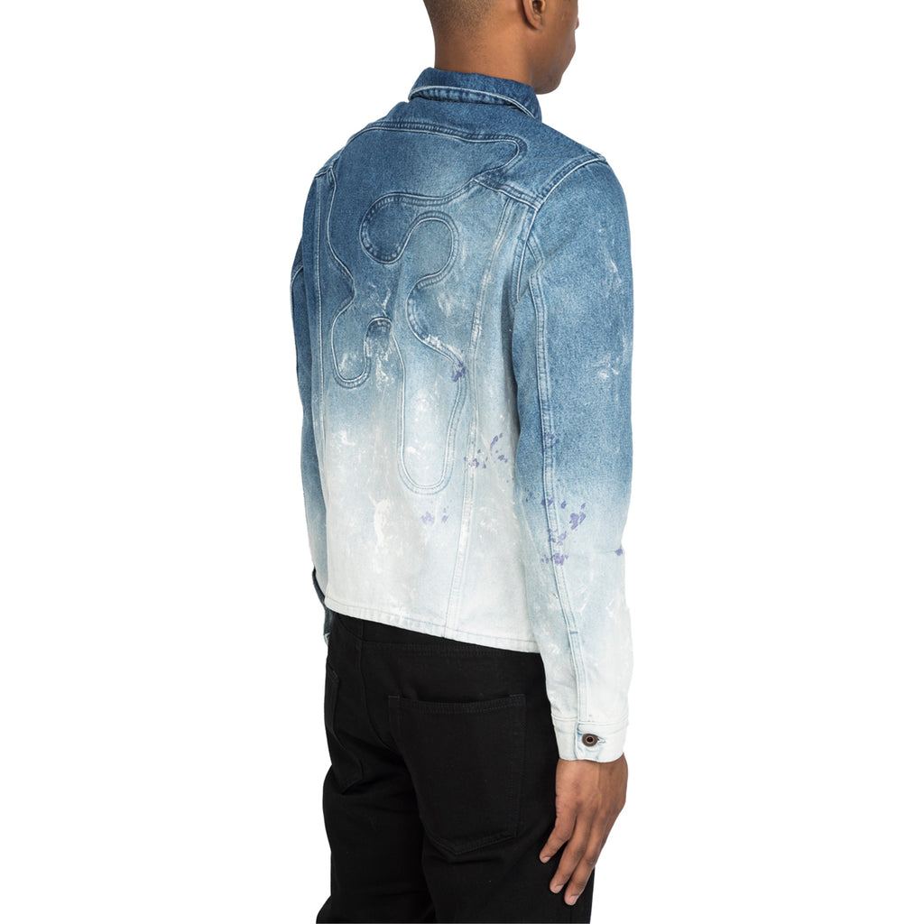 Off-White SS20 Melt Jean Jacket , Degrade Wash Light Blue