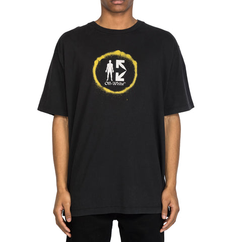 Off-White SS20 Spray Circle S/S Over Tee, Black/Multi