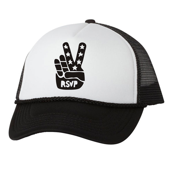 RSVP Gallery So Me Trucker Hat, White/Black