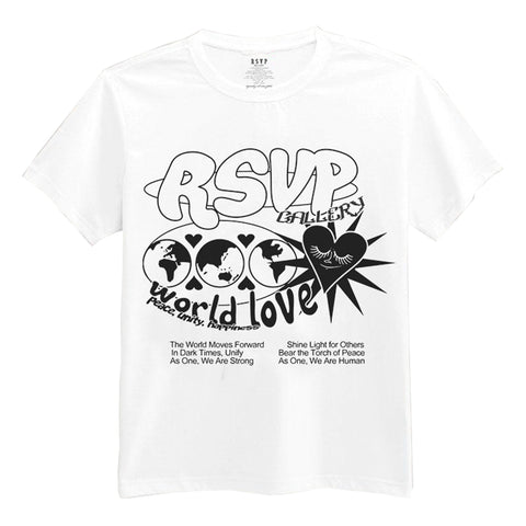 RSVP Gallery World Love Tee, White