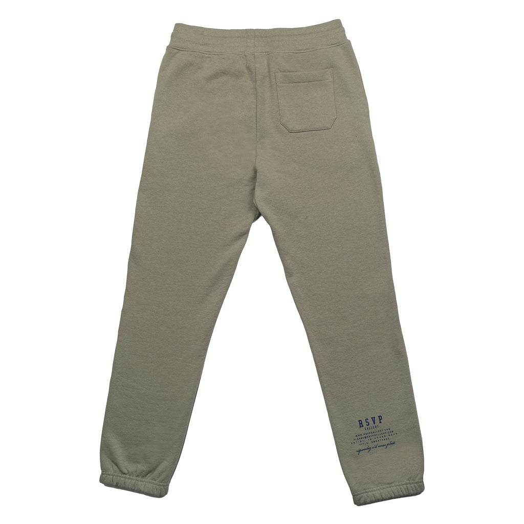RSVP Gallery Twill Sweatpants, Agave Green/Midnight Blue