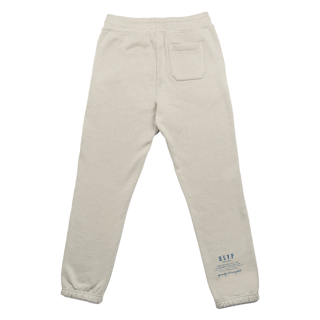 RSVP Gallery Twill Sweatpants, Foggy Dew/Midnight Green