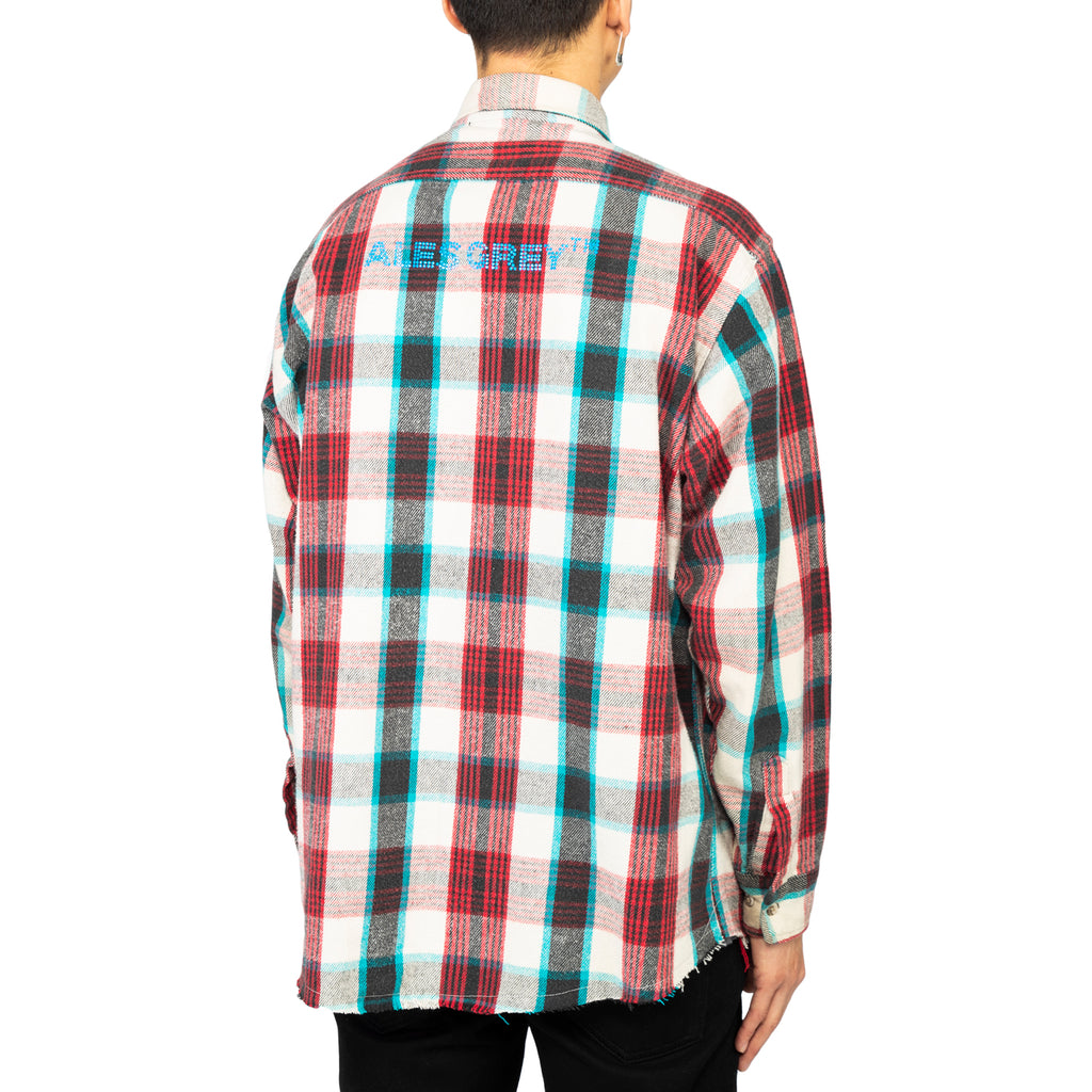 Ales Grey x RSVP Gallery Vintage Flannel #6, White/Red/Blue