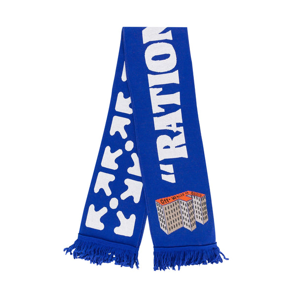 Off-White PS20 F Building Scarf, Blue/White