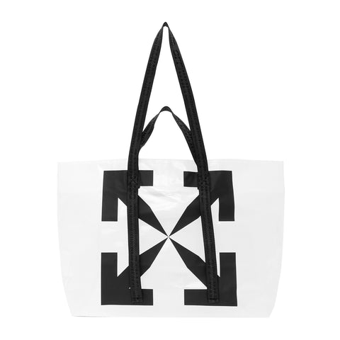 Off-White SS20 Man Commercial Tote, Transparent/Black