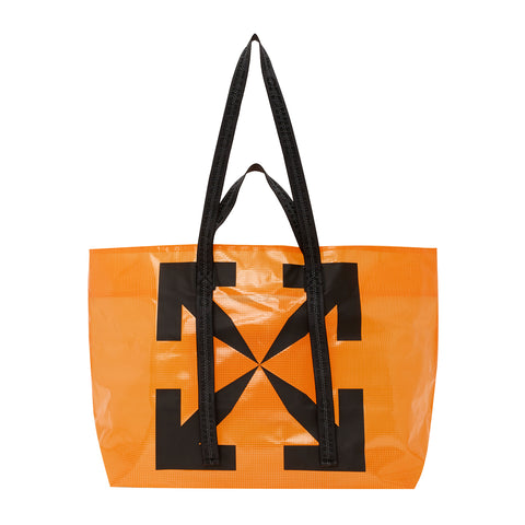 Off-White SS20 Man Commercial Tote, Orange/Black