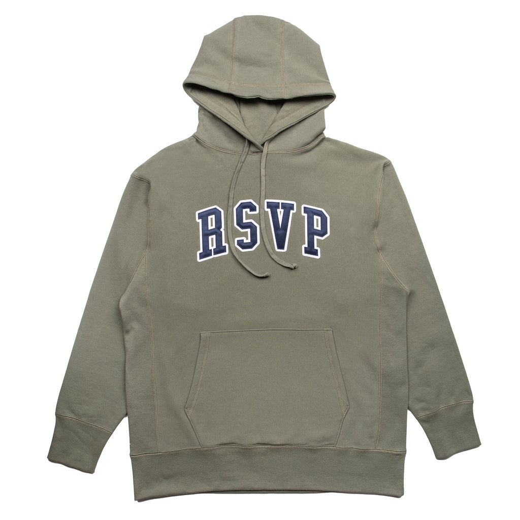 RSVP Gallery Tackle Twill Hoodie, Agave Green/Midnight Blue