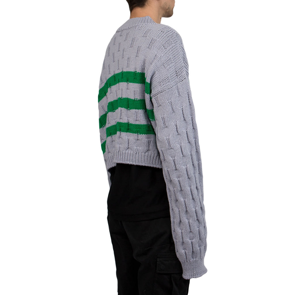 Raf Simons Disturbed Roundneck Sweater (Grey/Green)