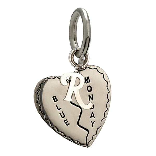 Raf Simons FW19 Single Broken Heart Charm, Silver
