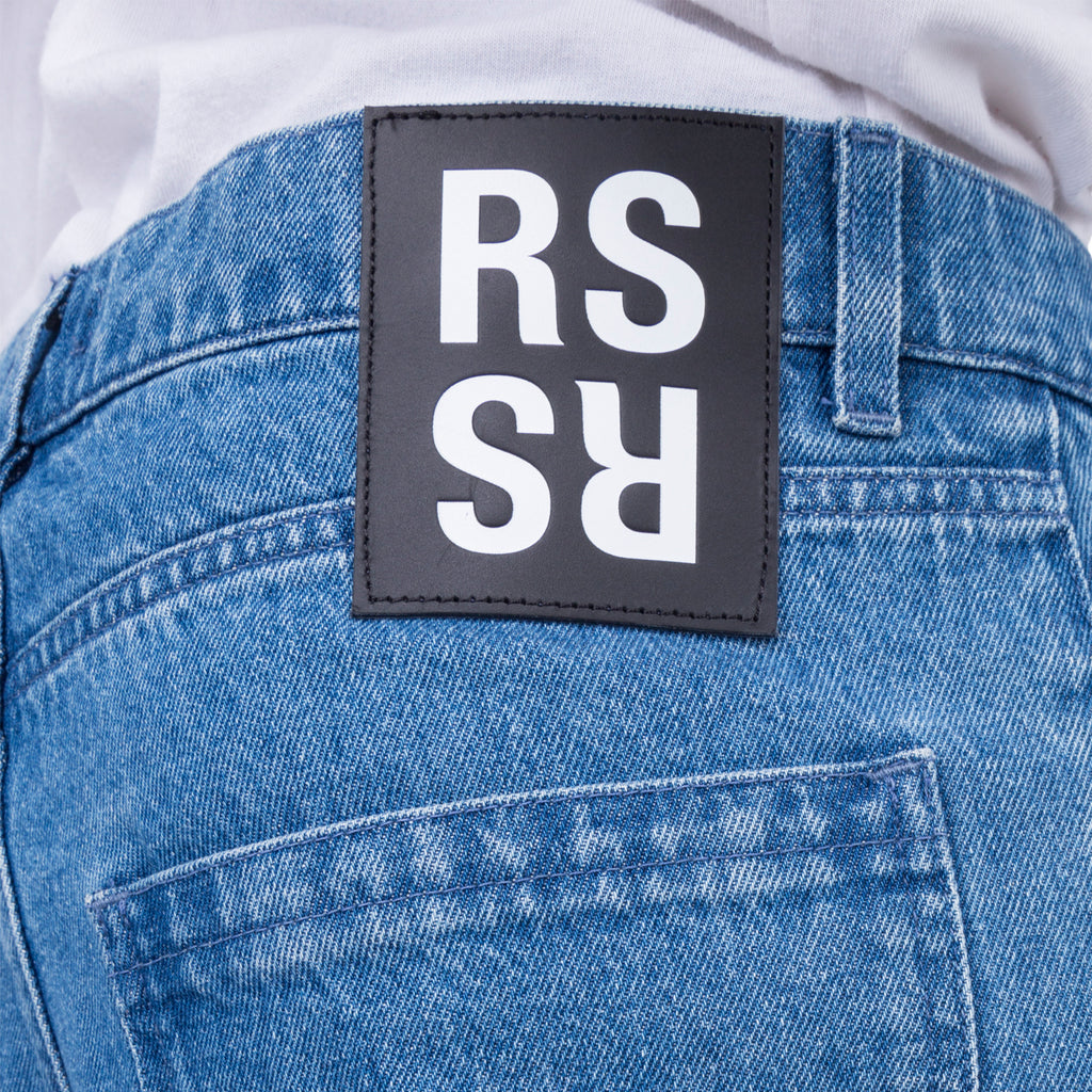 Raf Simons FW19 Slim Fit Denim Pants w/ 4 Rings, Light Blue