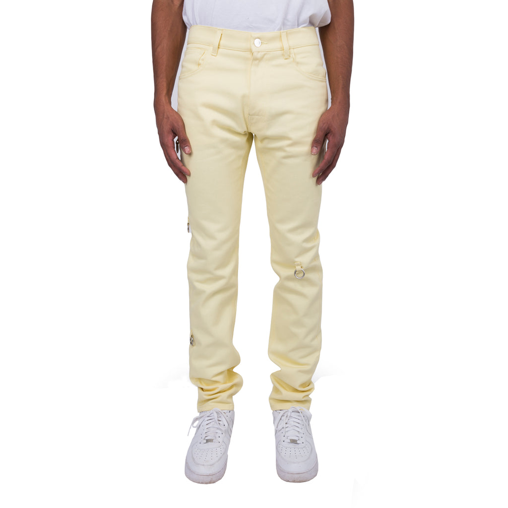 Raf Simons FW19 Slim Fit Denim Pants w/ 4 Rings