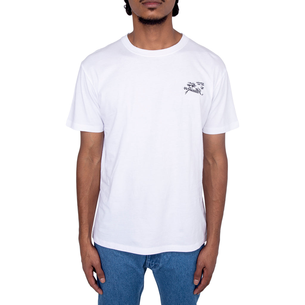 Raf Simons FW19 Illusion Embroidery Slim Fit T-shirt, White