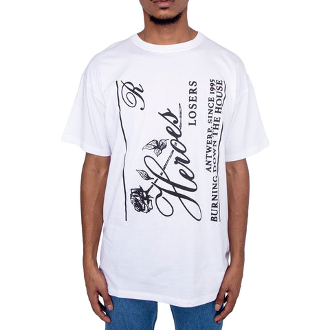 Raf Simons FW19 Heroes Big Fit T-shirt, White