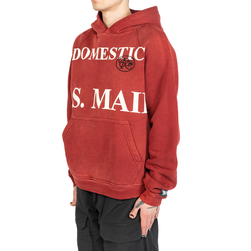 Reese Cooper SS20 Domestic Mail Aged Hoodie, Red