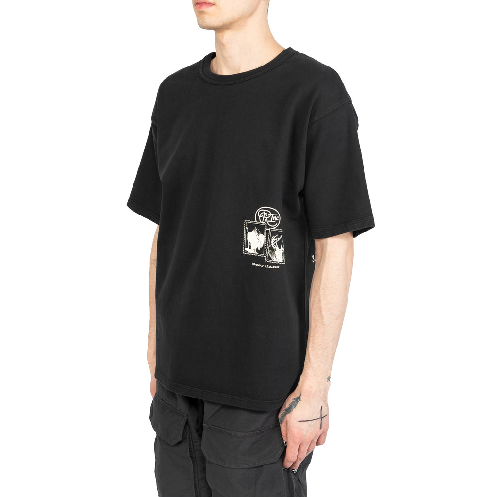 Reese Cooper SS20 Postcard Aged Tee Shirt, Vintage Black