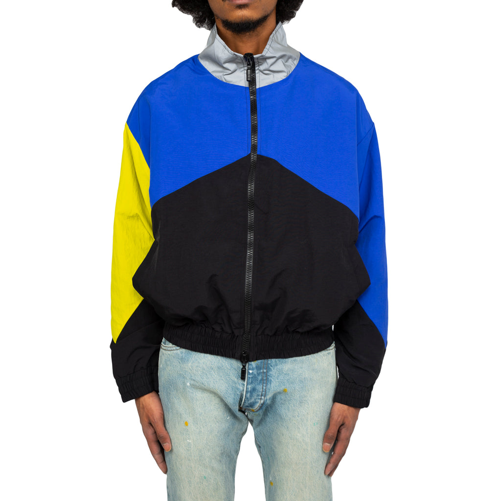 Rhude FW19 Flight Jacket, Blue/Black/Yellow