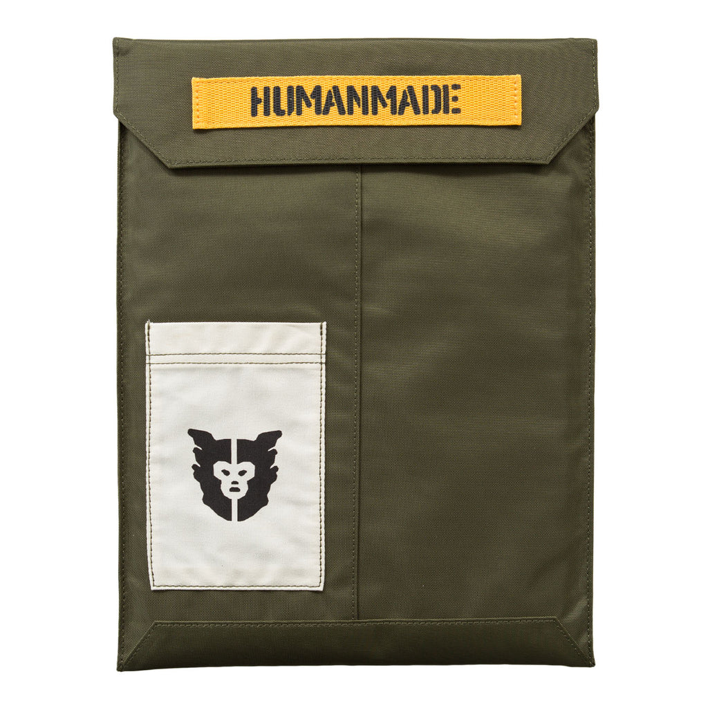 Human Made Nylon PC Case (Olive Drab)