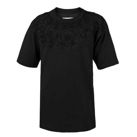 Sacai Embroidery Solid T-Shirt, Black