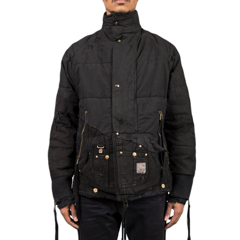 Greg Lauren Sleeping Bag Canvas Retro Puffy Jacket