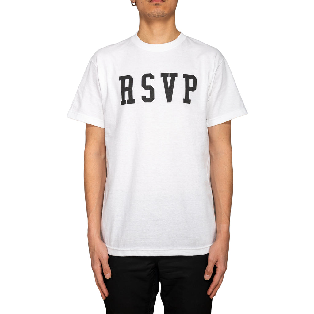 RSVP Gallery Logo Tee, White/Black