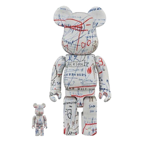 Medicom Be@rbrick Jean-Michel Basquiat 100% and 400% Set