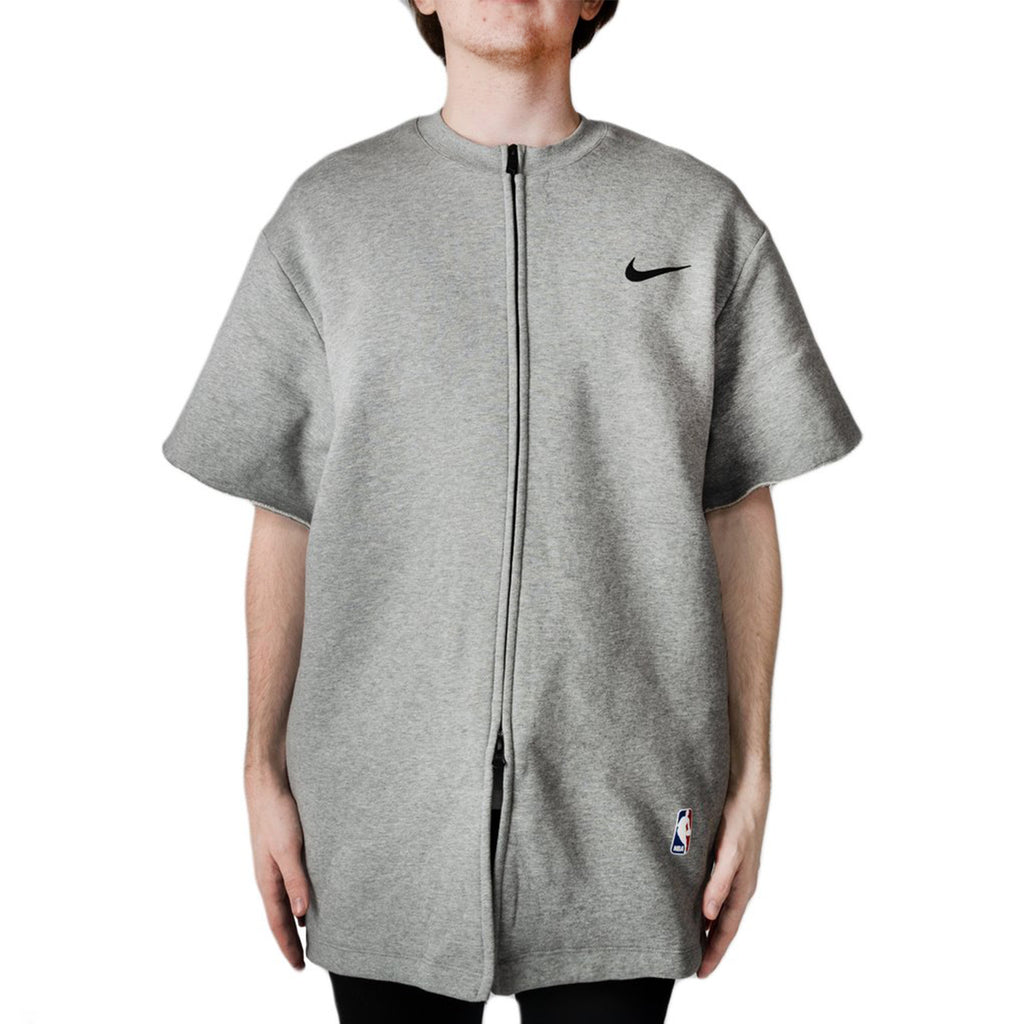 Nike x Fear Of God S/S Zip Up Top, Dark Grey/Black