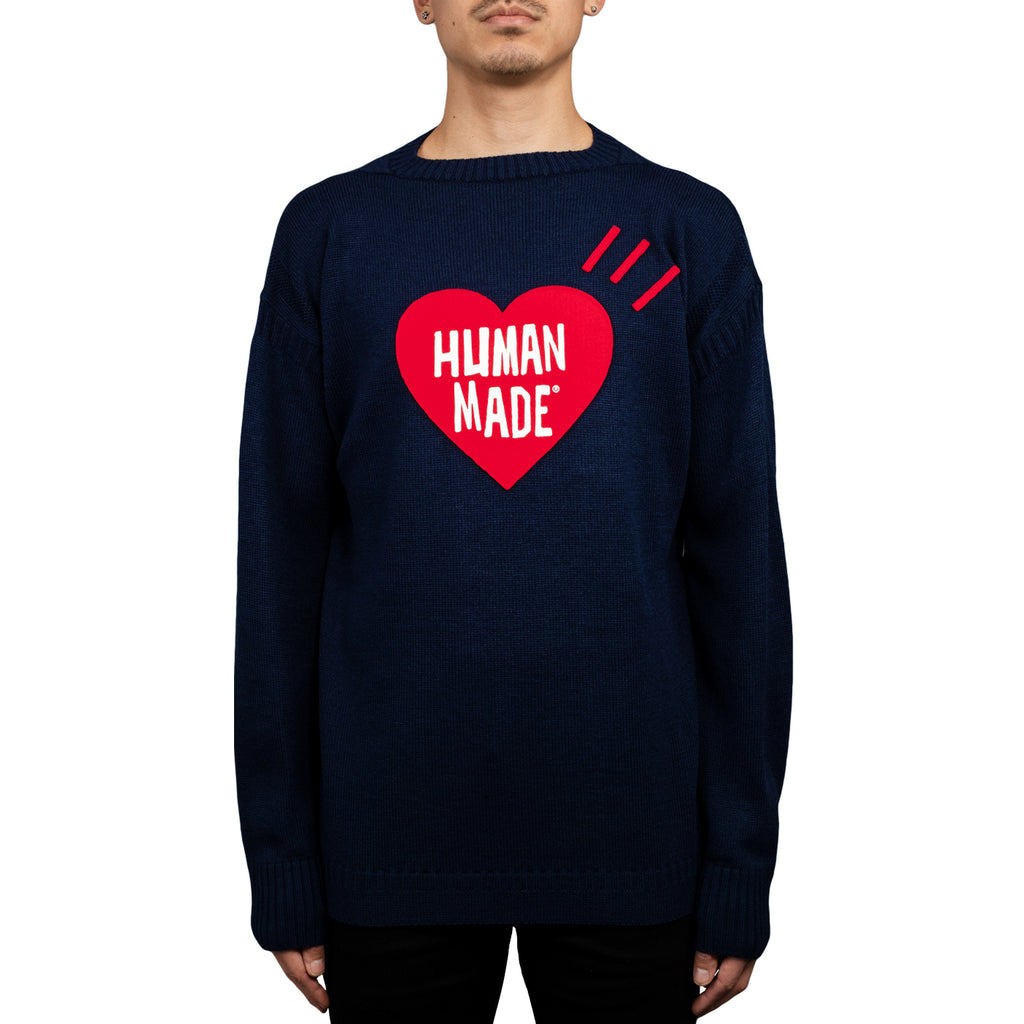 Human Made Heart Knit FW18, Navy