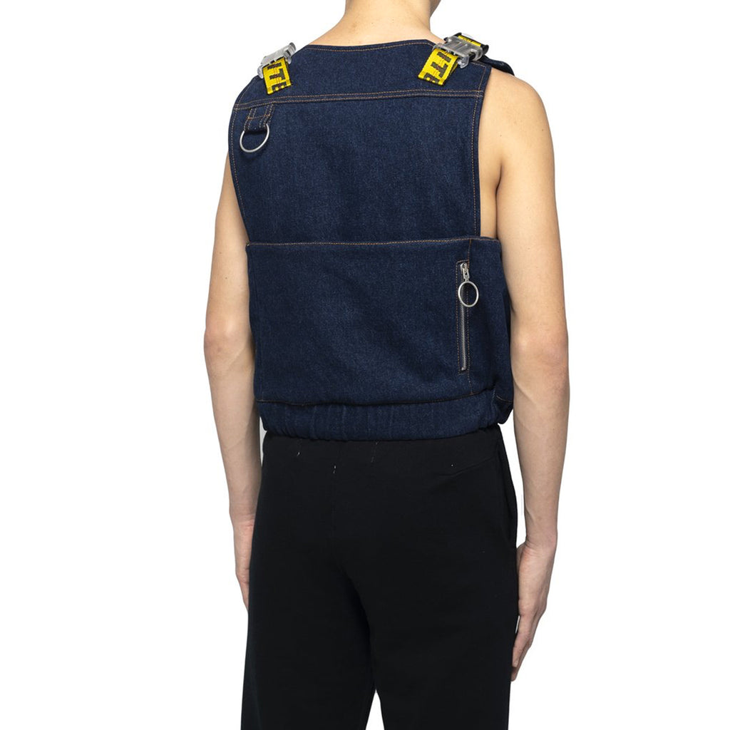 Off-White Denim Tactical Vest, Blue Wash