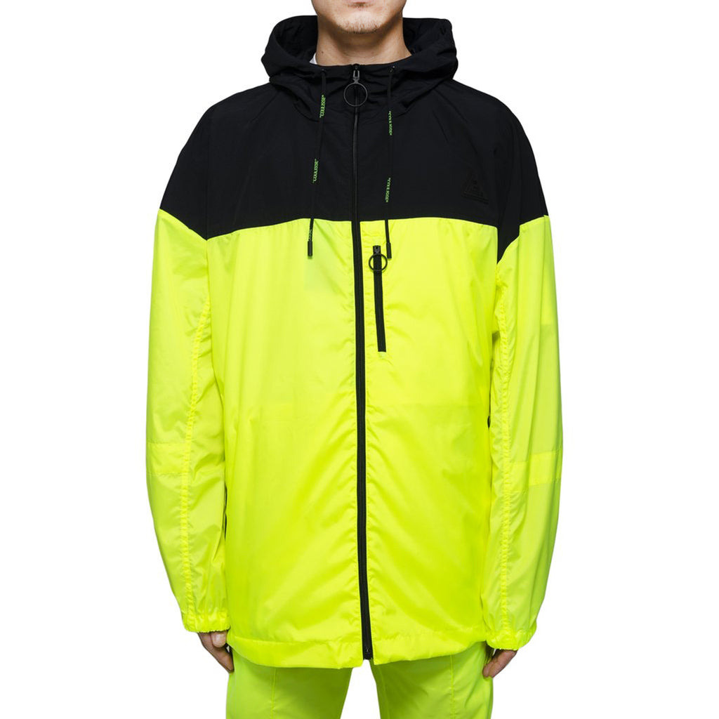 Off-White Nylon Windbreaker Full Zip, Fluo Yellow/Black