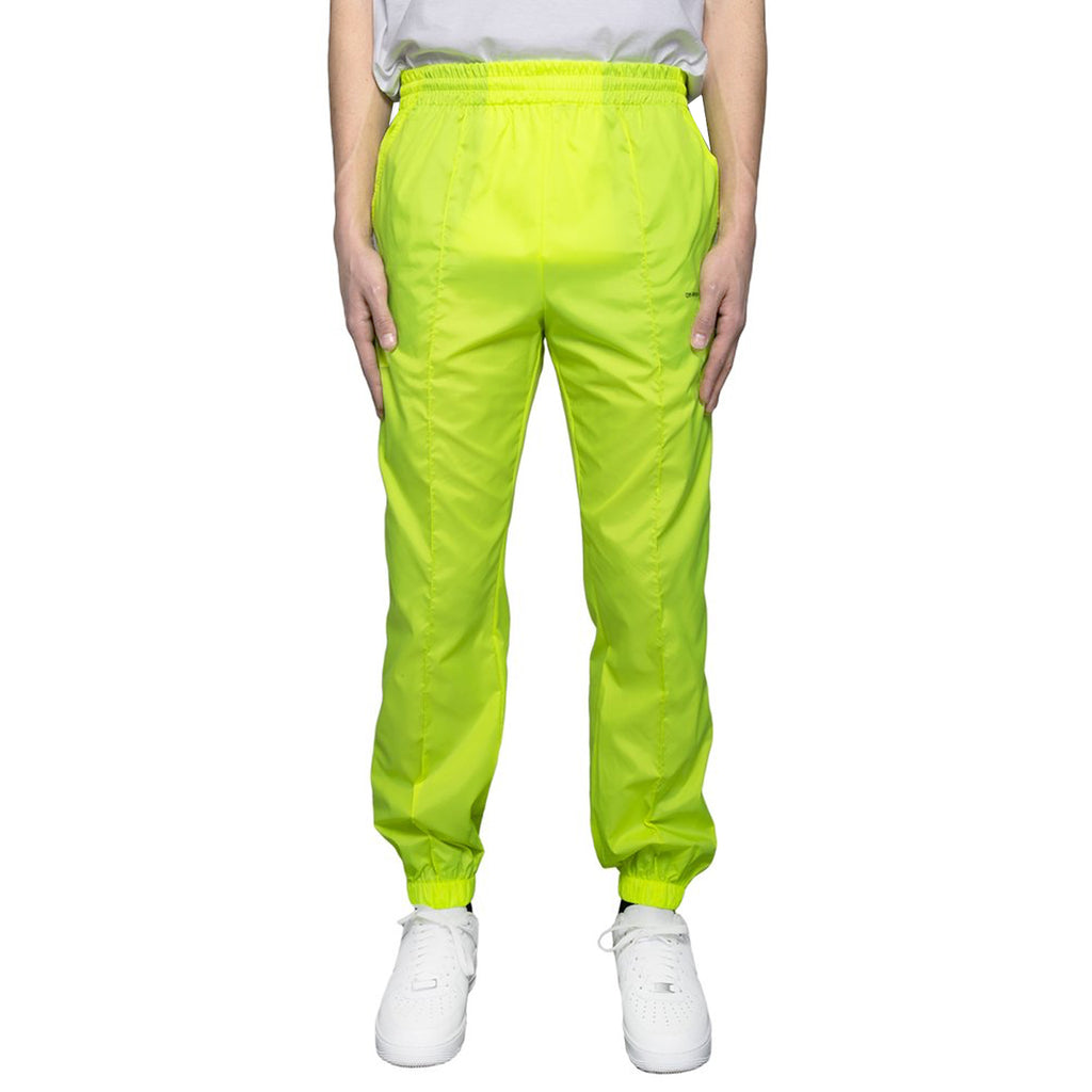 Off-White Light Nylon Jogging Pants, Fluo Yellow