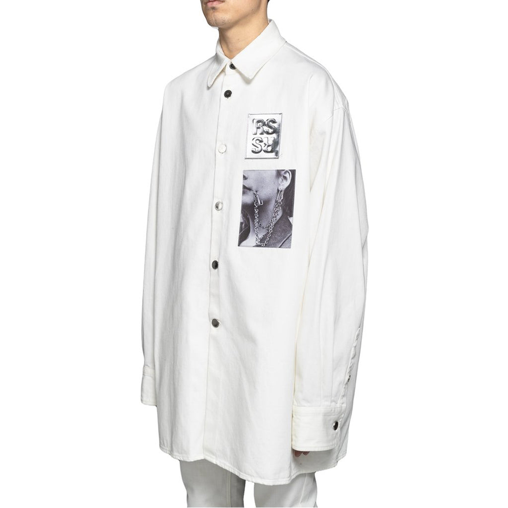 Raf Simons Big Fit Shirt W/ Two Patches, White