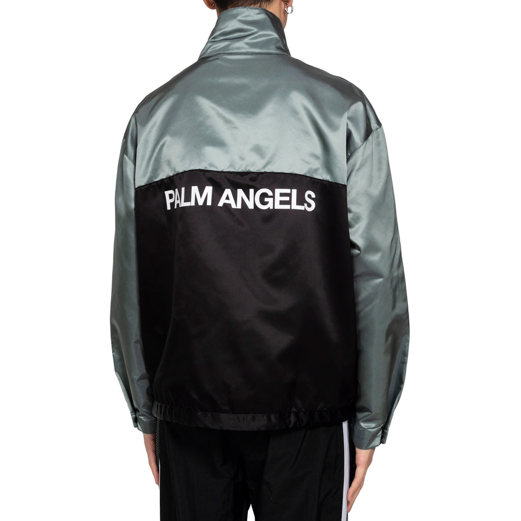 Palm Angels Color Block Sport Jacket, Light Grey/Fluo Orange