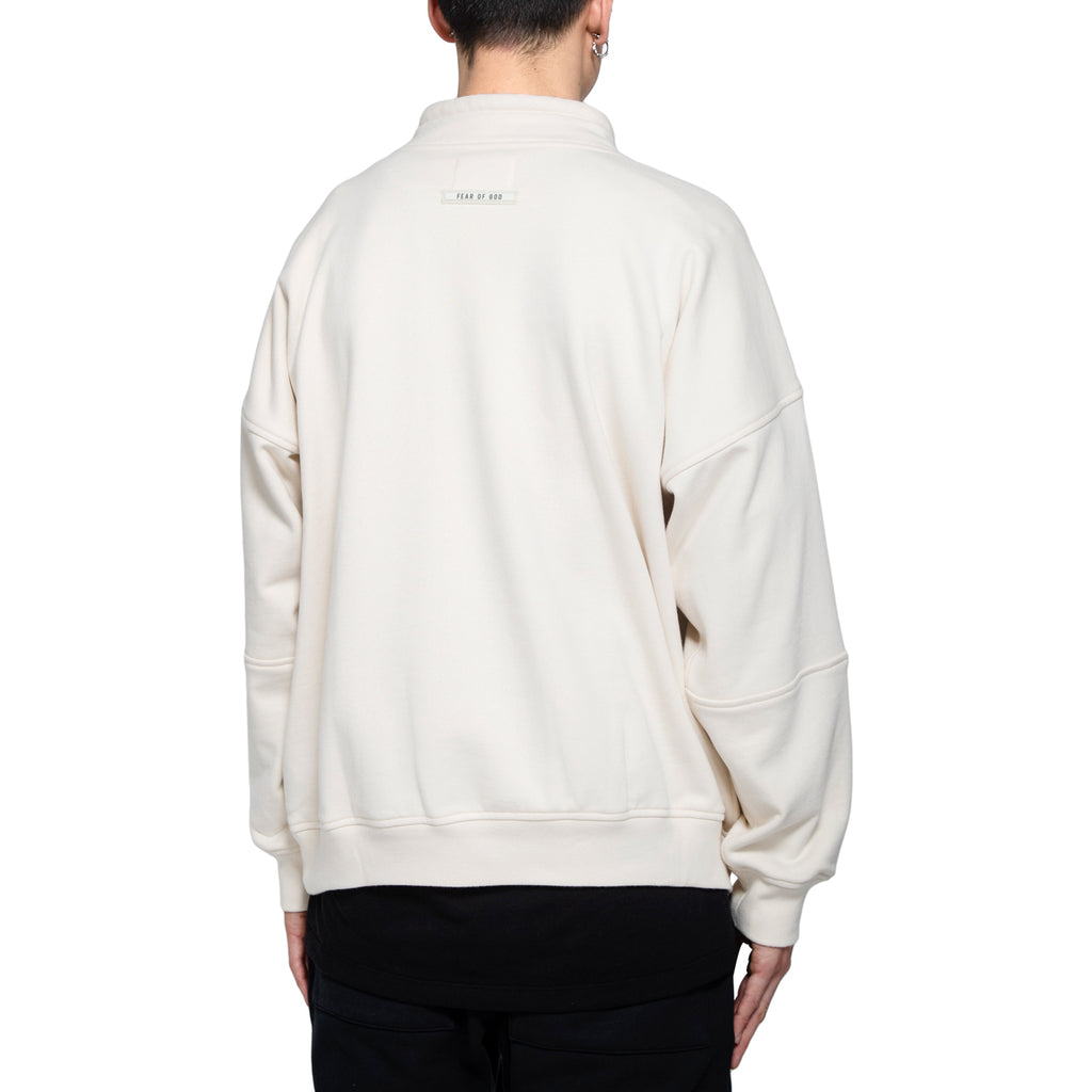 "Fear Of God Mock Neck ""FG"" Pullover, Cream"