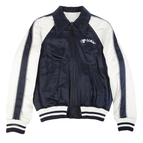 Off-White F20 Reversible Souvenir Jacket, Dark Blue/White