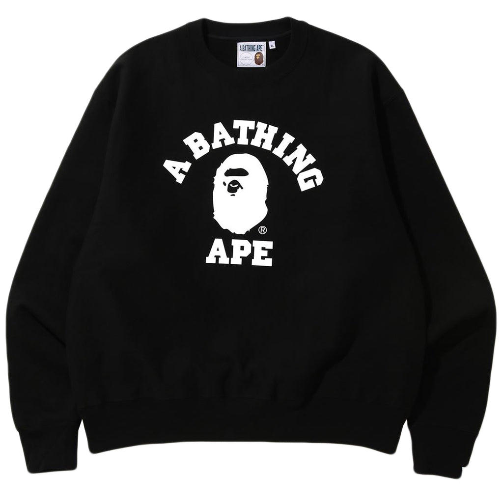 Bape SS20 Relaxed College Crewneck, Black