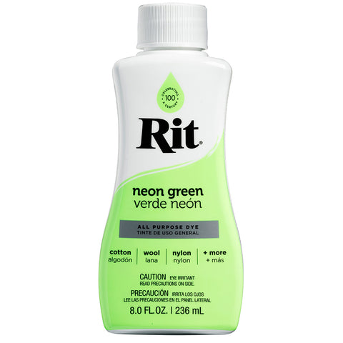 Rit All-Purpose Liquid Dye, Neon Green