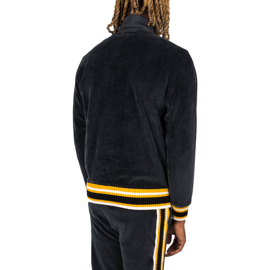 Palm Angels FW19 Chenille Track Jacket, Black/White