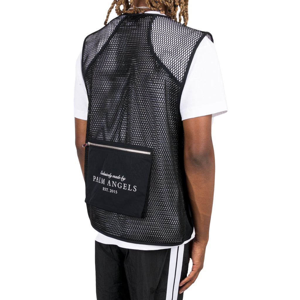 Palm Angels FW19 Hunting Vest, Black/Black