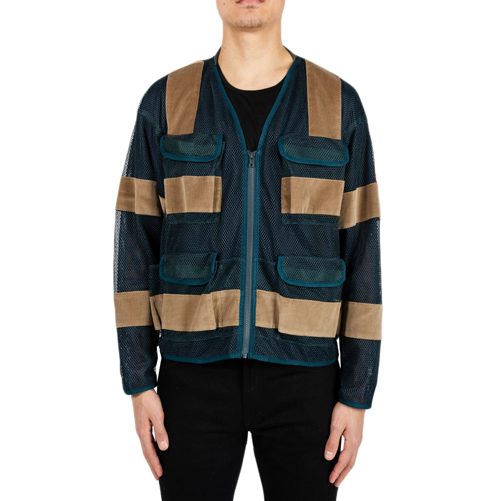 Cav Empt SS19 Mesh Zip Jacket, Green