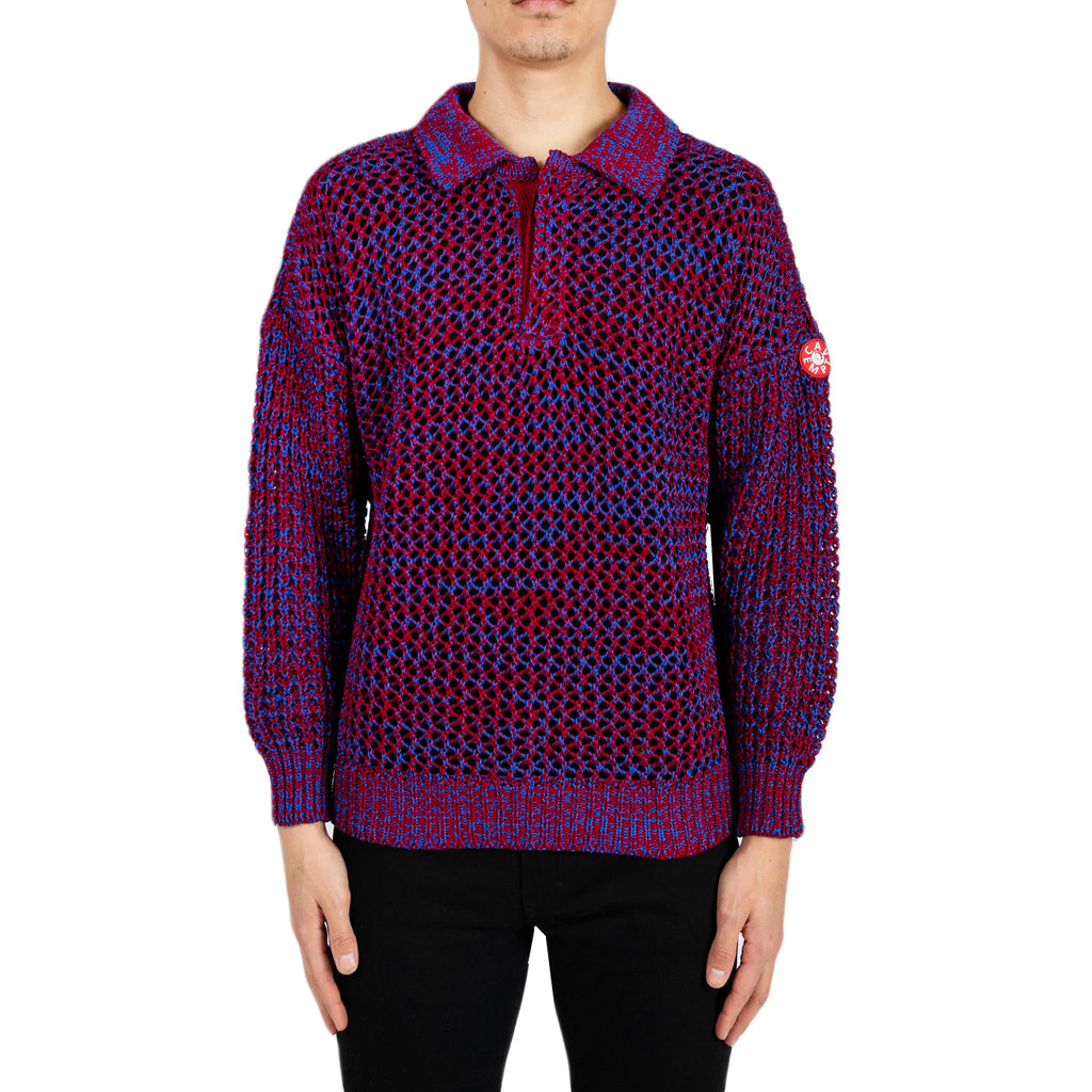 Cav Empt SS19 Loose Waffle Collared Knit, Red