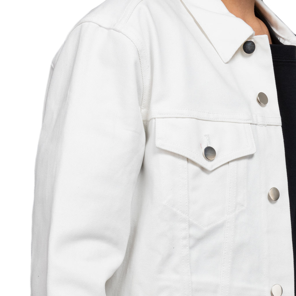 Warren Lotas SS19 Europa White Denim Jacket, White