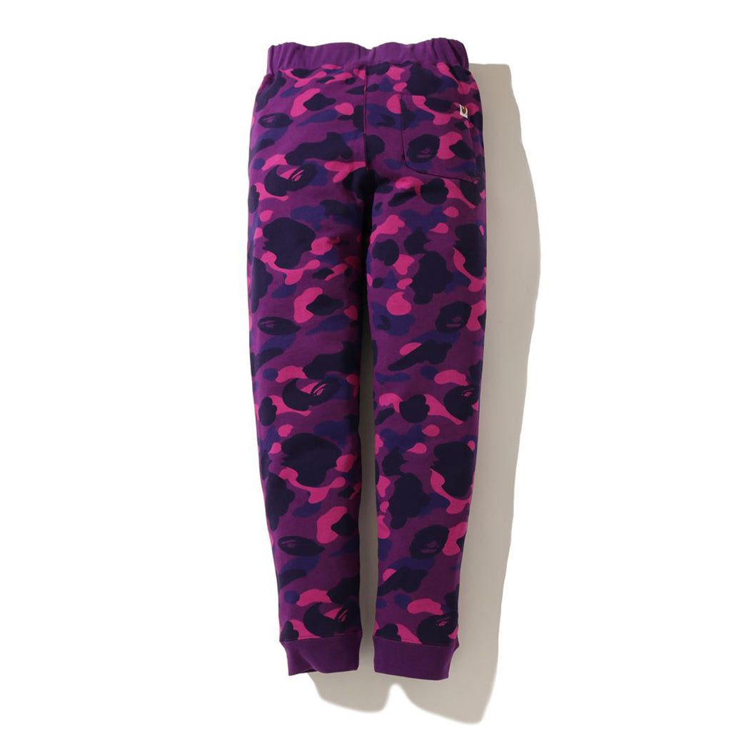 Bape SS20 Color Camo Tiger Slim Sweatpants, Purple