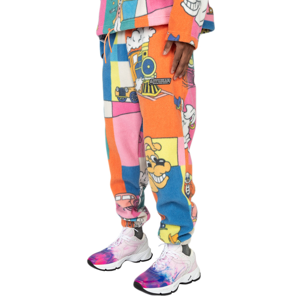 Martine Rose SS20 Fleece Track Pant, Pink Toon