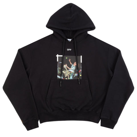 Off-White F20 Pascal Print Over Hoodie, Black/White